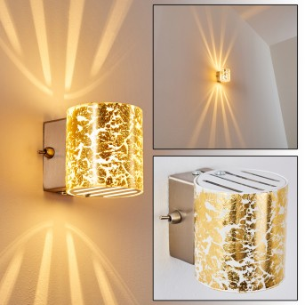 BAMAKO Wall Light matt nickel, 1-light source