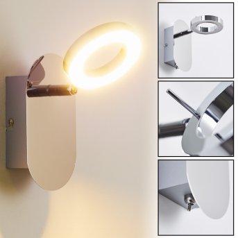 Adel wall spotlight LED chrome, 1-light source