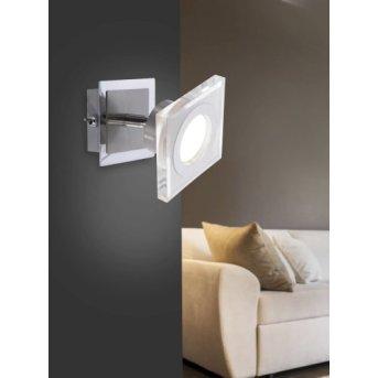 Leuchten-Direkt KOVI wall light LED stainless steel, 1-light source