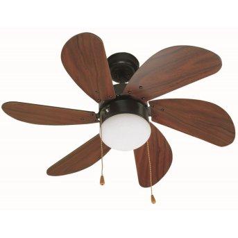 Faro Barcelona Palao Ceiling Fan with Lighting brown, 1-light source