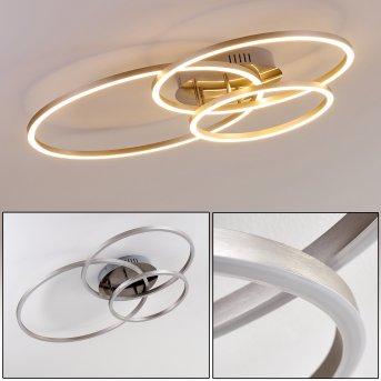 Chilkat Ceiling Light LED matt nickel, 1-light source
