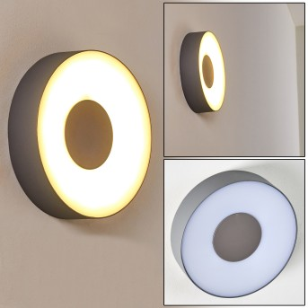FELSTED Outdoor Wall Light LED silver, 1-light source