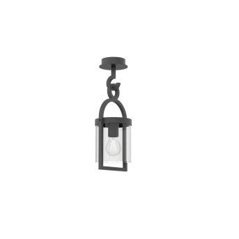Outdoor Ceiling light Mantra MAYA grey, 1-light source