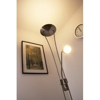 Trio 4264 floor lamp LED matt nickel, chrome, stainless steel, 1-light source