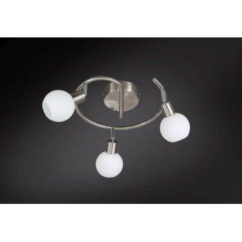 Wofi NOIS ceiling light LED matt nickel, 3-light sources