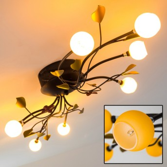 LOON Ceiling Light rust-coloured, 8-light sources
