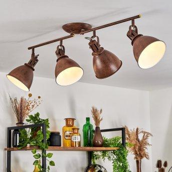 KOPPOM ceiling light rust-coloured, 4-light sources