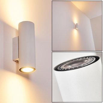 Zuoz Wall Light white, 2-light sources