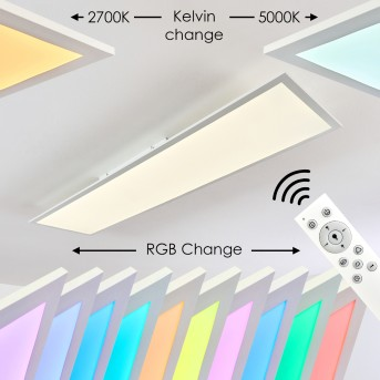 Antria Ceiling Light LED white, 1-light source, Remote control, Colour changer