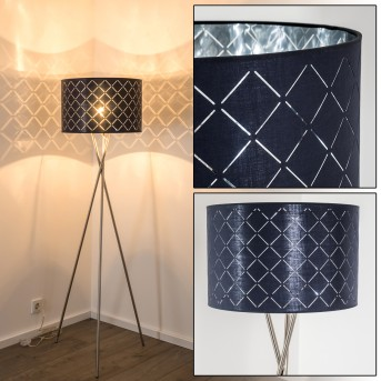 MELDAL floor lamp matt nickel, 1-light source