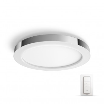 Philips HUE AMBIANCE WHITE ADORE Ceiling Light LED chrome, silver, 1-light source, Remote control