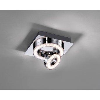 Leuchten Direkt TIM ceiling light LED chrome, 2-light sources