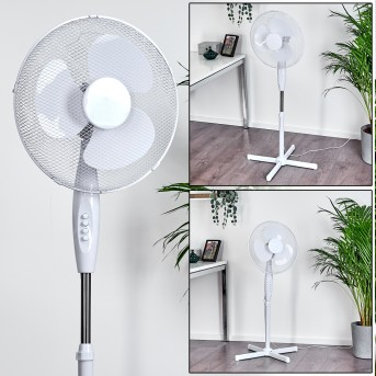 NIORT standing fan chrome, white