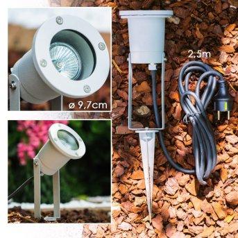 Pilsen garden spotlight silver, 1-light source