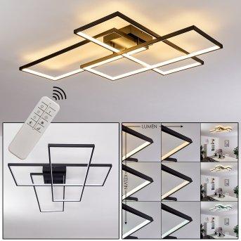 GHANA Ceiling Light LED black, 1-light source, Remote control