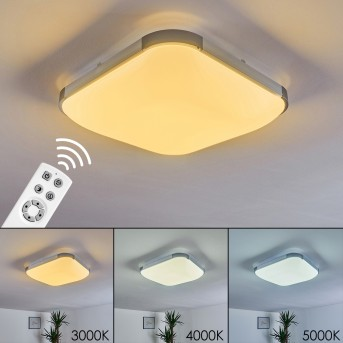 Corinth Ceiling Light LED silver, 1-light source, Remote control
