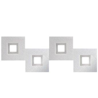 Grossmann KARREE Ceiling light LED aluminium, titanium , 4-light sources