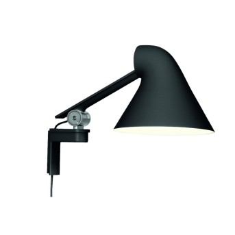 Louis Poulsen NJP Wall Light LED black, 1-light source
