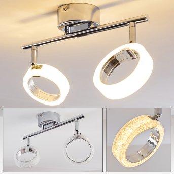 SOPPANA Ceiling light LED chrome, 2-light sources