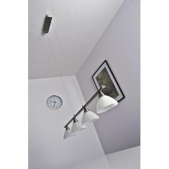 Globo RUBEN hanging light stainless steel, 4-light sources
