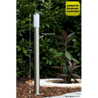 Massive myGarden UTRECHT path light stainless steel, white, 1-light source, Motion sensor