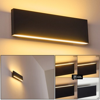 Obion Wall Light LED anthracite, 2-light sources