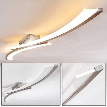 Orgia LED ceiling light matt nickel, 1-light source