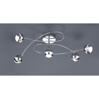 Trio-Leuchten Baloubet Ceiling Light LED chrome, 5-light sources