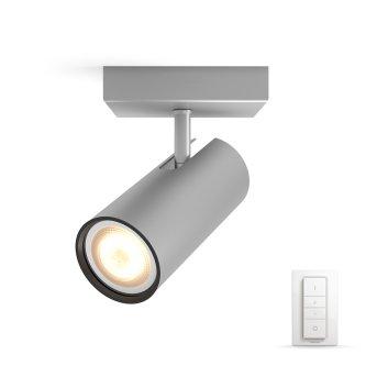 Philips HUE AMBIANCE WHITE BURATTO Spotlight base set silver, 1-light source, Remote control