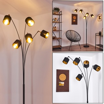 ALSEN Floor Lamp black, 5-light sources