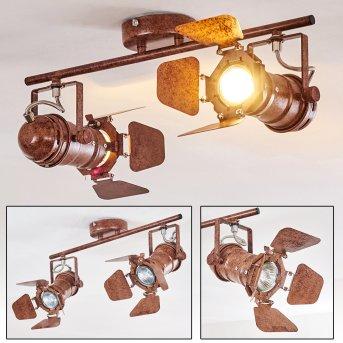 Lichinga ceiling spotlight rust-coloured, 2-light sources