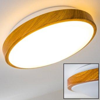 Sora Wood ceiling lamp LED white, light wood, 1-light source