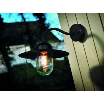 Nordlux LUXEMBOURG outdoor wall light black, 1-light source