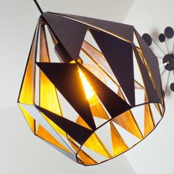 Eglo CARLTON 1 hanging light black, silver, 1-light source