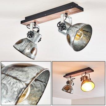 Hora Ceiling Light Dark wood, 2-light sources
