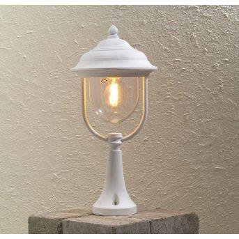 Konstsmide Parma pedestal light white, 1-light source