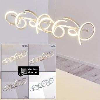 Lavaca Pendant Light LED silver, 4-light sources