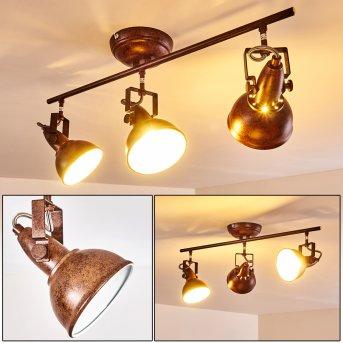 Ceiling Light Tina rust-coloured, 3-light sources