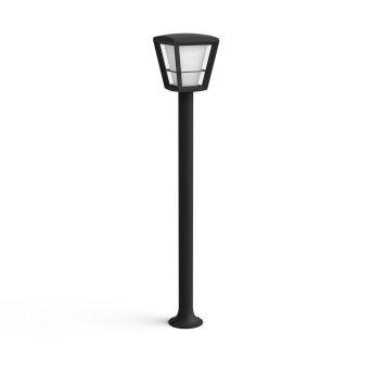 Philips HUE AMBIANCE WHITE & COLOR ECONIC path light LED black, 1-light source, Colour changer