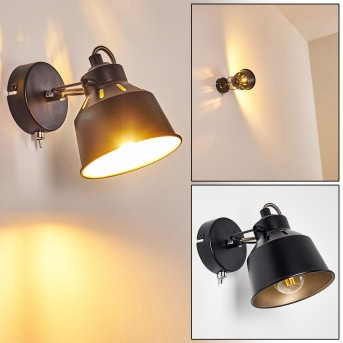 Safari Wall Light black, 1-light source