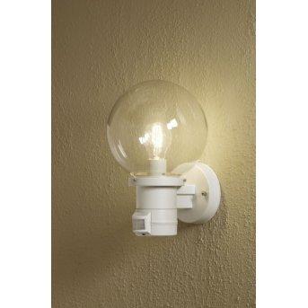 Konstsmide Nemi wall light white, 1-light source, Motion sensor