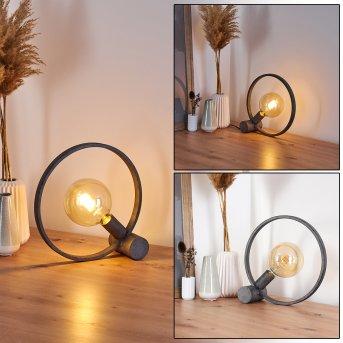 DARLEG Table lamp black, grey, 1-light source