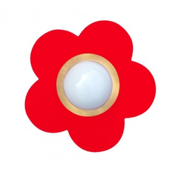 Waldi Fleur petit ceiling light red, 1-light source
