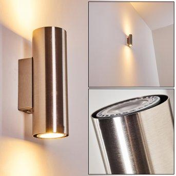 Zuoz Wall Light matt nickel, 2-light sources
