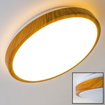 Sora Wood ceiling lamp LED white, light wood, 1-light source