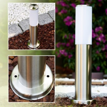 Caserta pedestal light stainless steel, 1-light source
