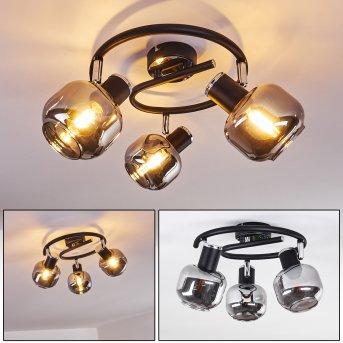 LEXINGTON Ceiling Light chrome, black, 3-light sources