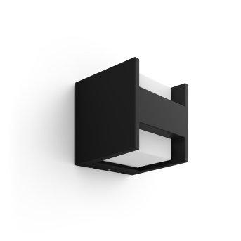 Philips HUE WHITE FUZO Wall Light LED black, 1-light source