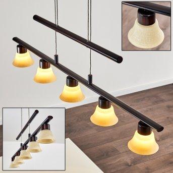 NELLIM Pendant Light LED rust-coloured, 5-light sources