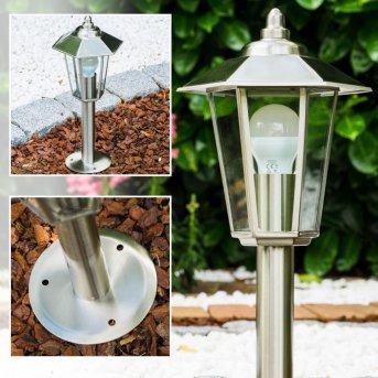 Moskau Pedestal Light stainless steel, 1-light source